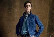 Модная мужская джинсовая одежда