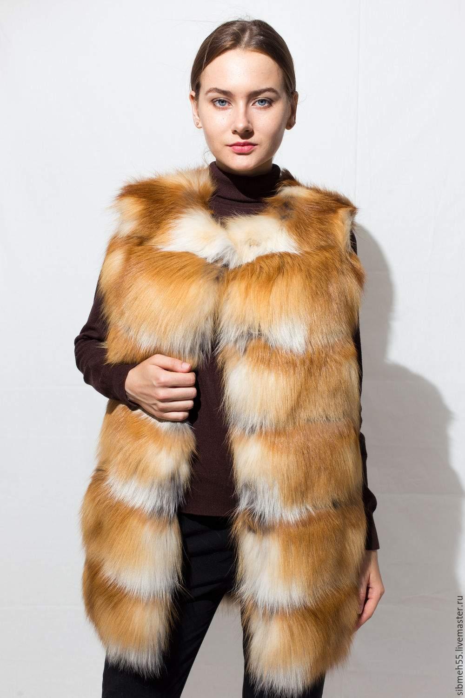 Меховые жилетки из лисы